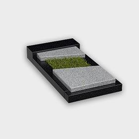 Цветник на могилу 6020