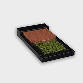 Цветник на могилу 6022